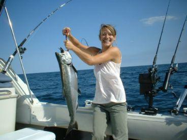 Blue Max Charters Salmon Fishing, Milwaukee