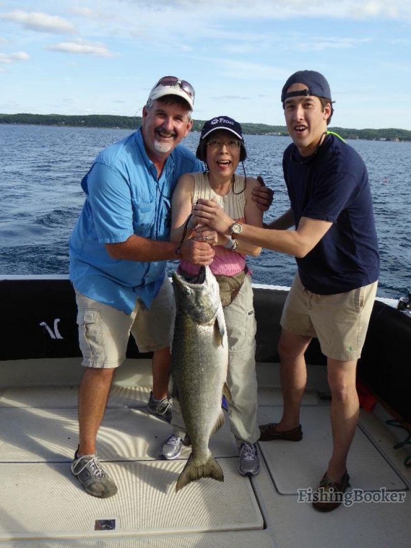 True blue charters traverse city michigan for Traverse city fishing charters