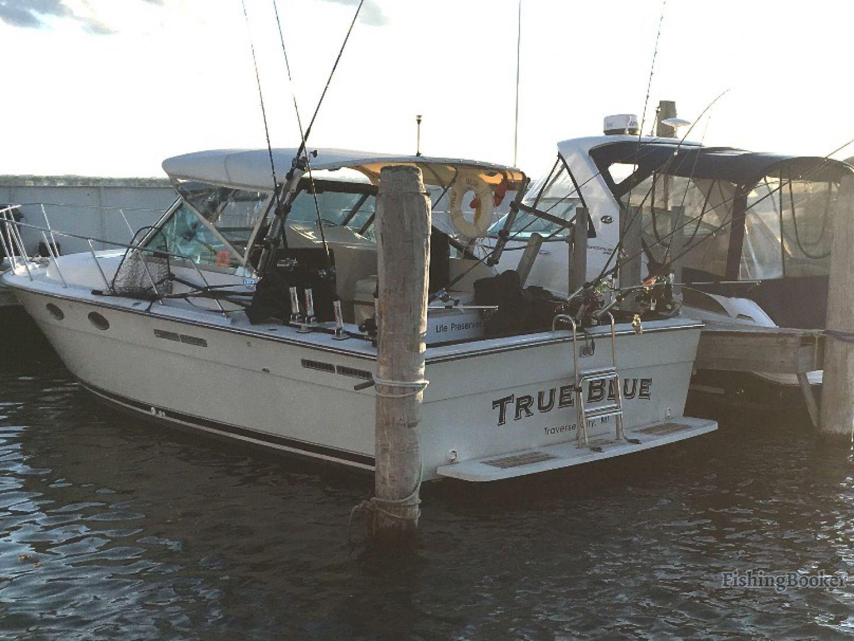 True blue charters traverse city michigan for Michigan city fishing charters