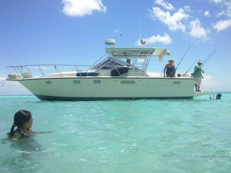 Bandida fishing 32 tiara cozumel mexico for Fly fishing cozumel