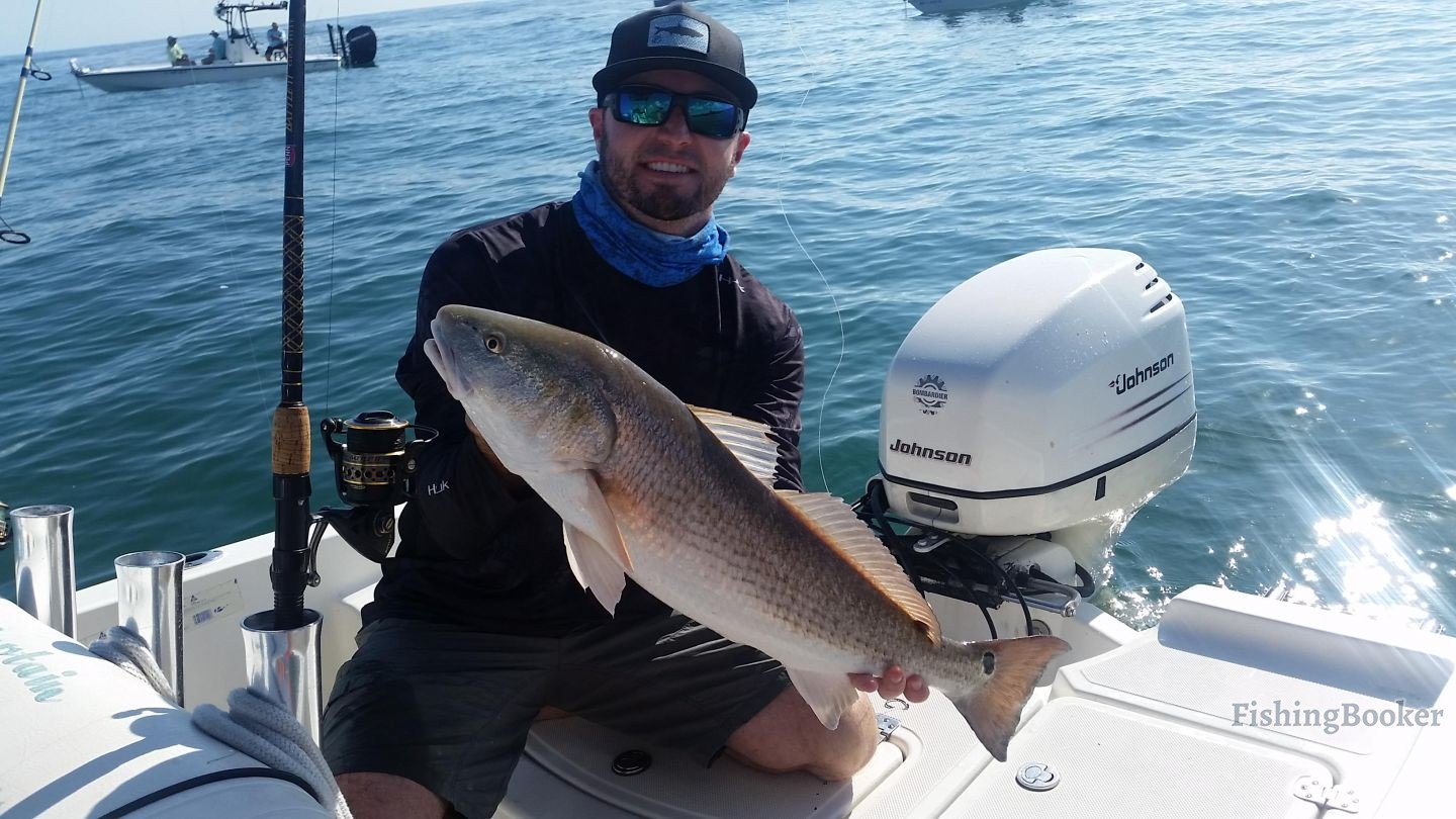 Redfish bonanza daytona beach fishing report for Fishing charters daytona beach florida
