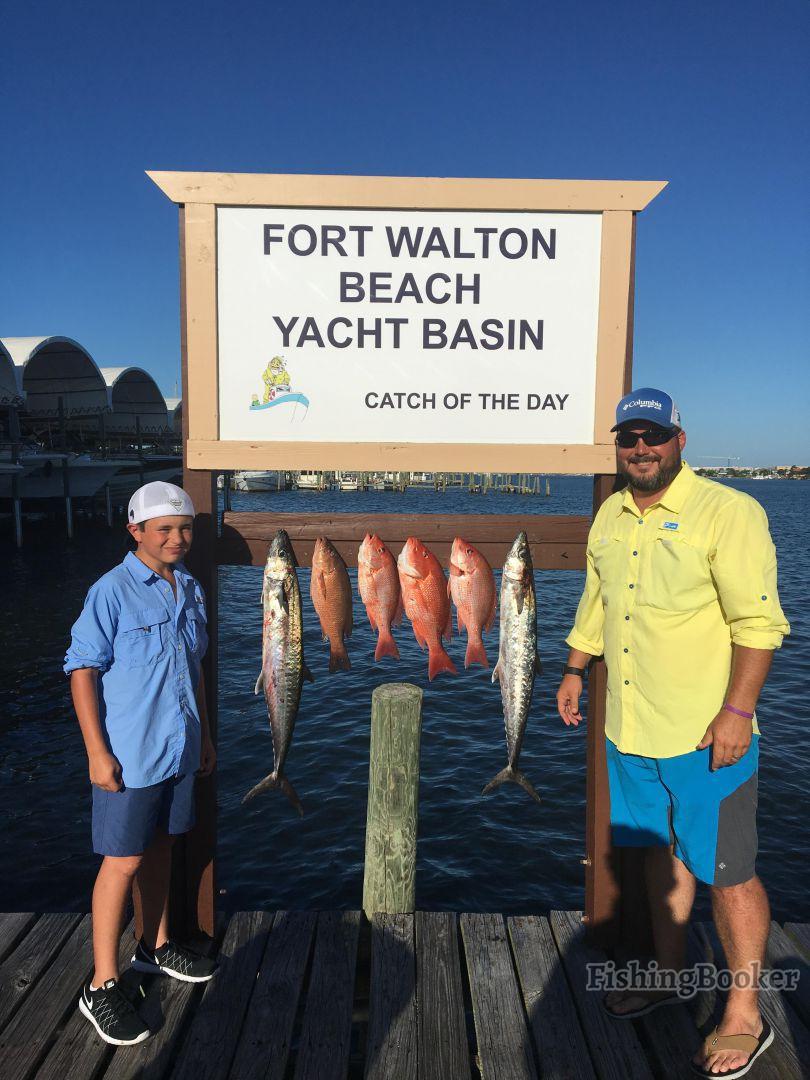 Panhandle fishing charters fort walton beach united for Fort walton beach fishing
